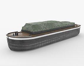 3D model Industrial Barge B
