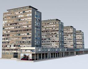 3D asset Slum Residential Towers