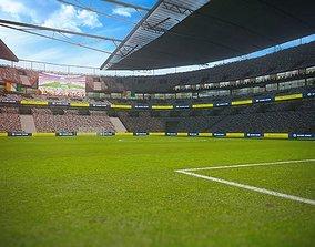 game-ready Football Soccer stadium game ready 3d