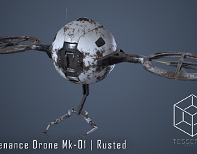 Maintenance Drone Mk1 Rusted 3D model