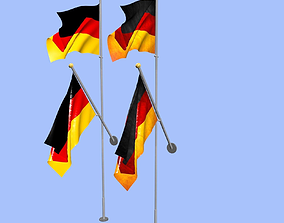 3D model Germany Flag