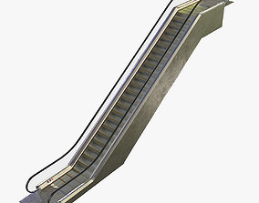 Escalator 3D asset animated