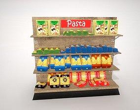 3D model PBR Grocery Shelves