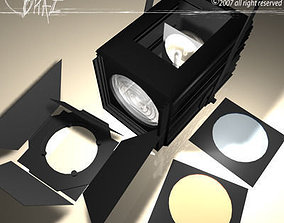 3D model Stage light and Fresnel 2