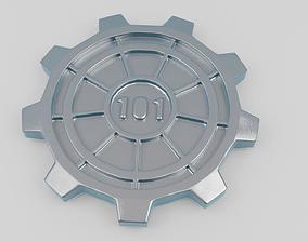 3D printable model Vault Door Glass Coaster