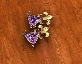 3D printable model crown pendant