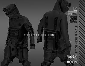 3D model cyberpunk outfit male