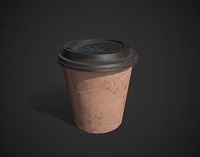 3D model Dirty Paper Coffee Cup
