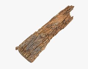 3D asset Rotten Plank Short Disintegrated