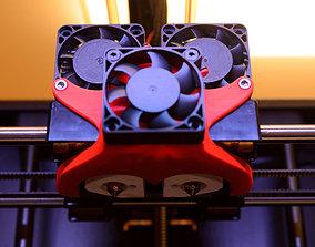Replicator 2X Cooling Fan Duct 2x 3D print model
