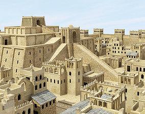 3D model Iraq Sumerian City Ziggurat Temple