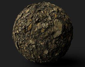 3D model PBR Scanned Large Stone Soil