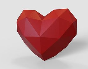 human heart lowpoly for 3d printing