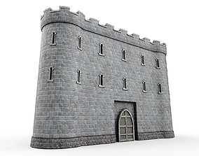 Stone tower v5 3D model
