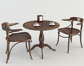 Table Chairs - Tavern Bar 2 3D model