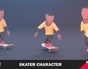 Skater Character 3D model animated