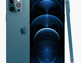 3D model iPhone 12 Pro siver