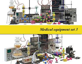 Medical laboratory set 3 3D