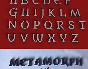 METAMORPH uppercase and lowercase 3D Letters STL FILE