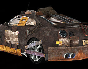 Nissan GT-R wasteland 3D model gtr
