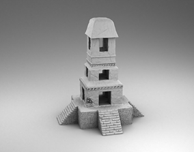 Stone tower maya 3D printable model