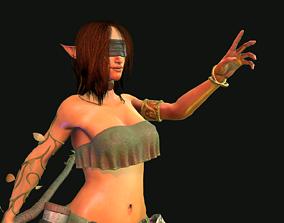 Female Elf Druid 3D model
