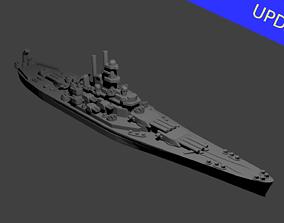 US South Dakota Class Battleship 3D print model