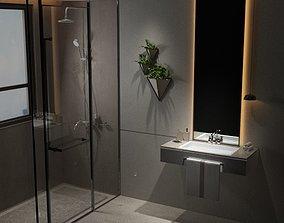 3D model modern chic bathroom