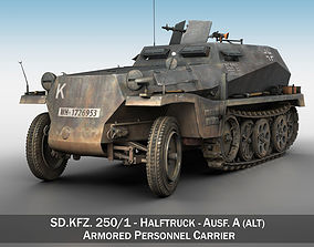 wehrmacht 3D model SD KFZ 250 - Half-track troop carrier