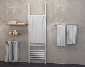 3D model Bathroom towels