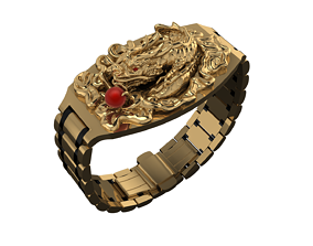 3D printable model DRAGON BRACELET WITH BUTTERFLY CLASP