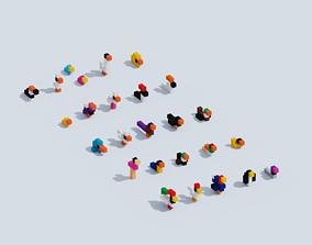Voxel Animals Big Set 3D asset