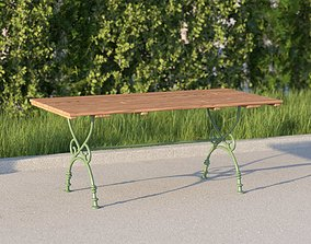 vienna public park table 3D