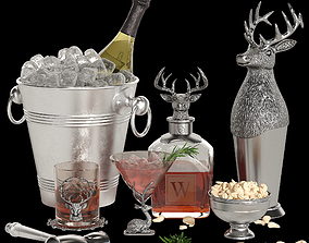 3D model Potterybarn stag cocktail set