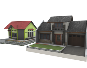 simple House Home housing 3D model
