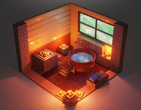 3D asset Isometric Bath House