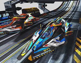 3D asset SciFi Race KIT