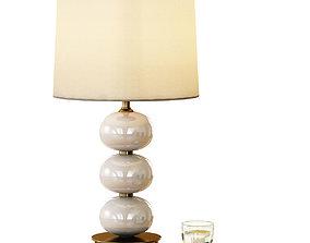 3D model Abacus Table Lamp - Milk White