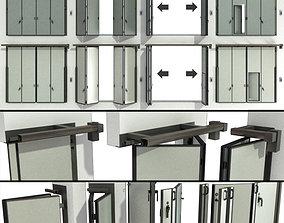 Sliding Gate doors for Garage or Warehouse 3D model