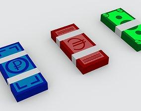3D model Money banknotes