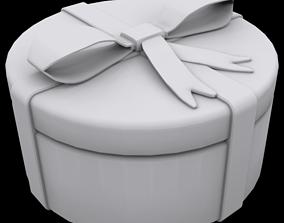 3D print model Gift box round household