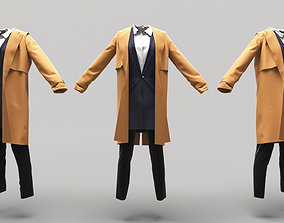 3D asset low-poly Female Clothing 14