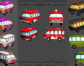 Cartoon Ambucar Pack 3D asset