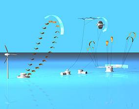 3D model Wind power plants