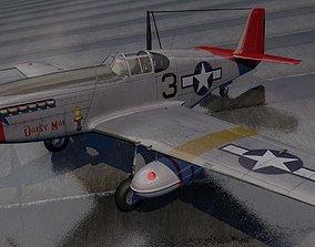 3D North American P-51C Mustang - Tuskegee Airmen