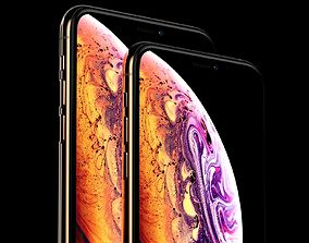 3D model iPhone XS and iPhone XS MAX Collection