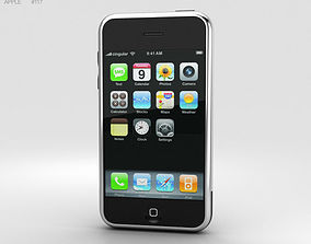 3D Apple iPhone 1st gen Black