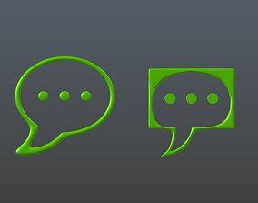 3D Communication Technology Icons