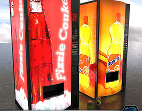 PBR Soda Vending Machines 3D model low-poly