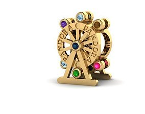 colorful ferris wheel charm ball 3D print model